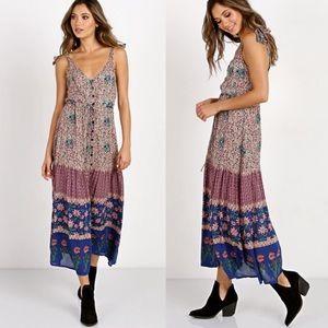 Cleobella Chennai Indian Print Midi Maxi Dress